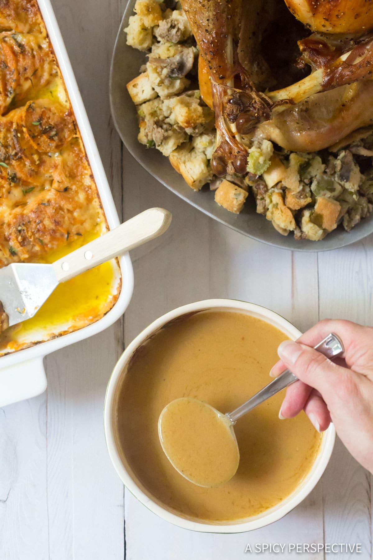 How To Make Turkey Gravy (Homemade Turkey Gravy Recipe) #ASpicyPerspective #Thanksgiving