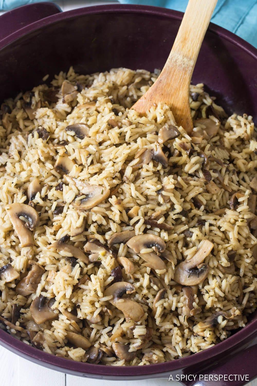 The Best Mushroom Rice Pilaf Recipe #ASpicyPerspective