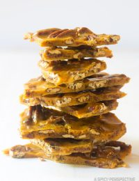 Bacon Pecan Brittle Recipe #ASpicyPerspective