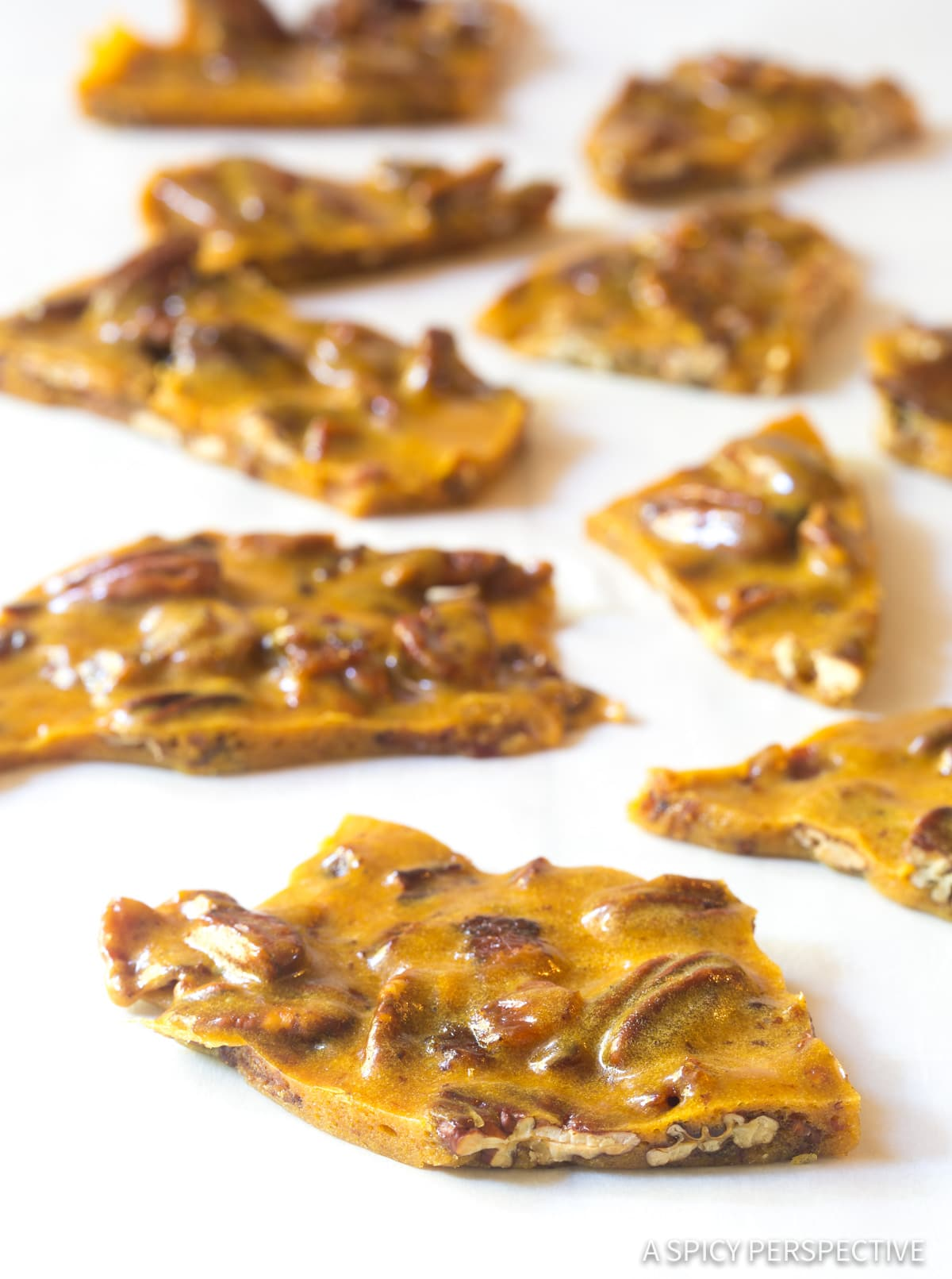 Crispy Bacon Pecan Brittle Recipe #ASpicyPerspective