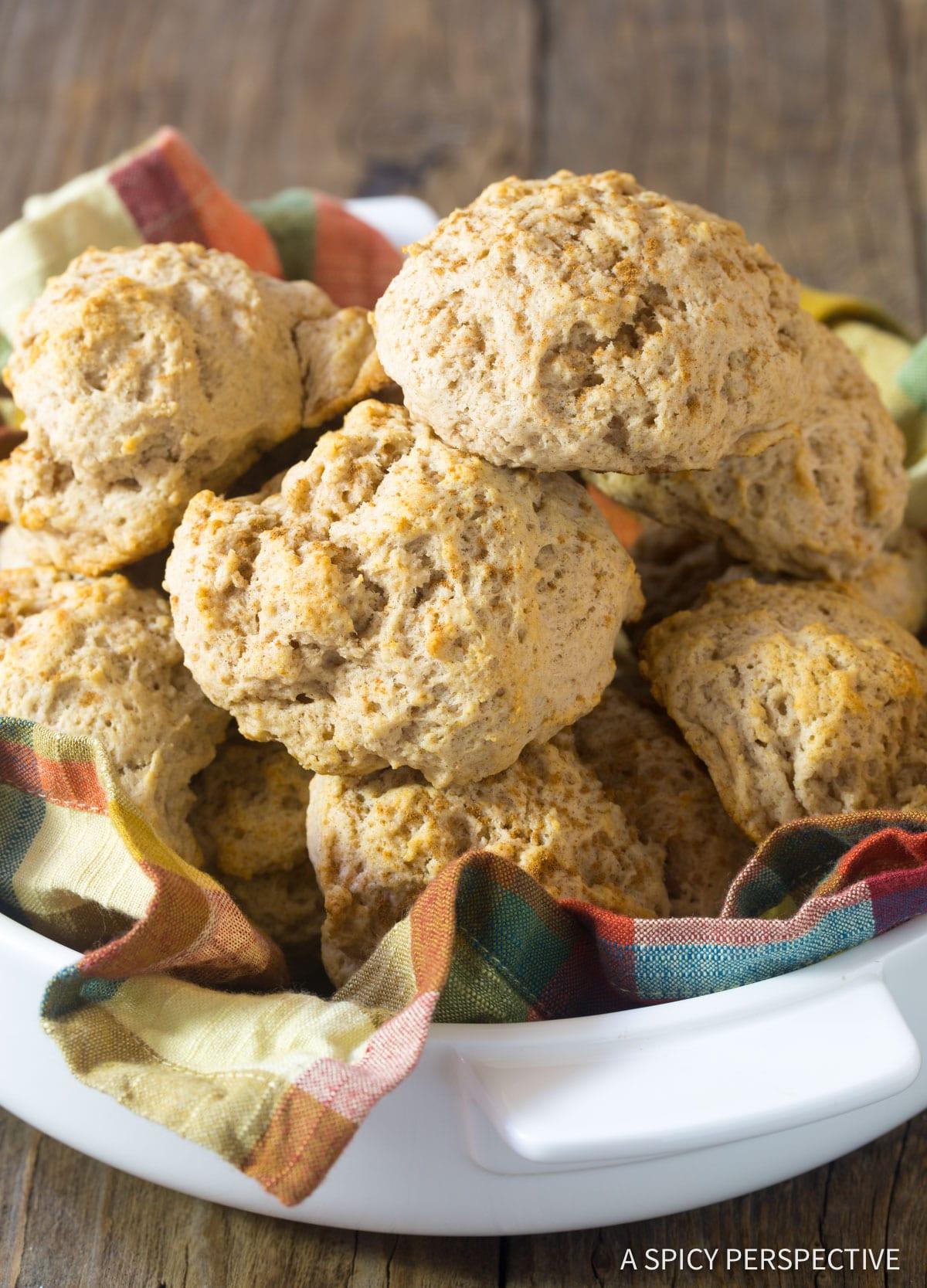 Perfect Easy Cinnamon Drop Biscuits Recipe #ASpicyPerspective