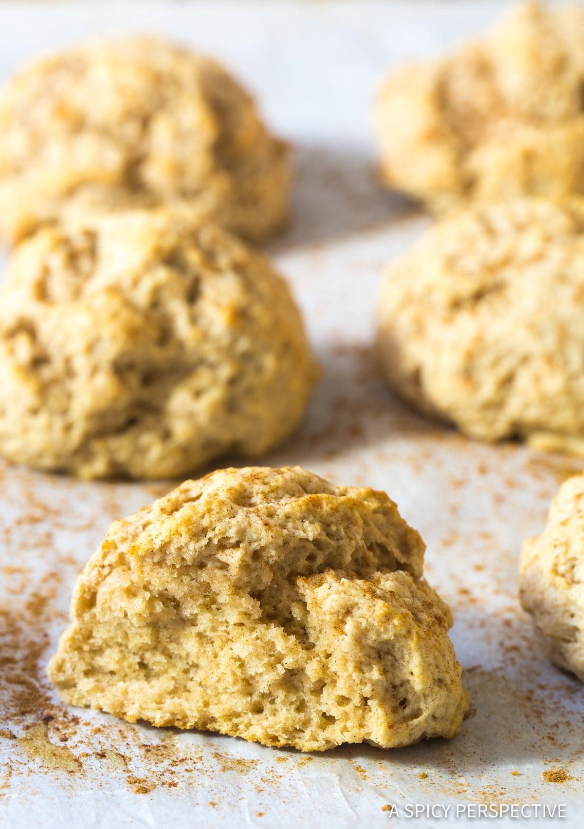 Warm Easy Cinnamon Drop Biscuits Recipe #ASpicyPerspective