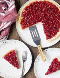 Pomegranate Cream Tart Recipe #ASpicyPerspective #holiday #pomegranaterecipe