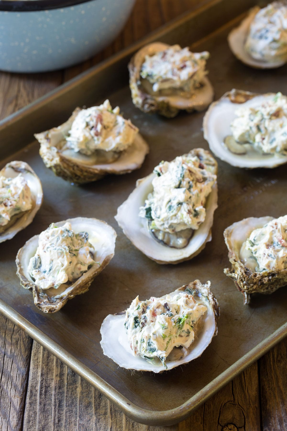 Three-Cheese Baked Oysters Recipe - A Spicy Perspective