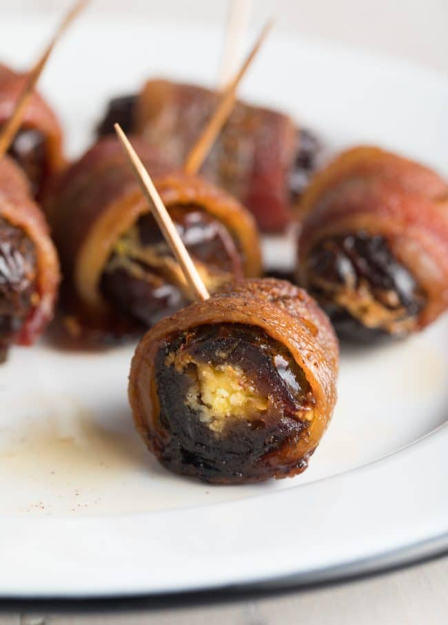 Perfect Spicy Bacon Wrapped Dates with Goat Cheese Recipe #ASpicyPerspective