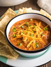 5-Ingredient Cheesy Chicken Chili Recipe #ASpicyPerspective