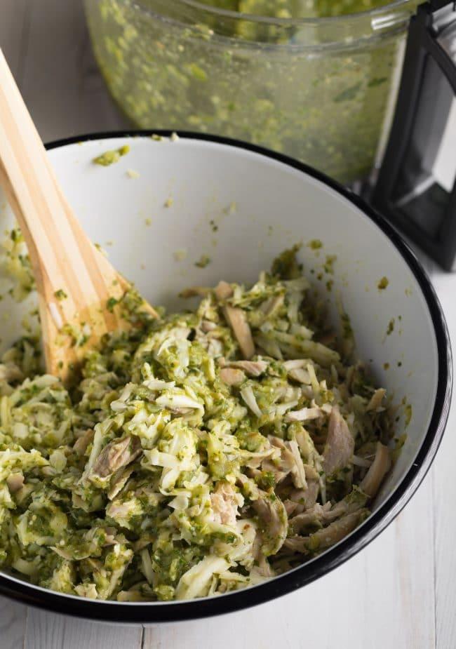 How To:  Enchiladas Suizas Recipe (Creamy Chicken Enchiladas) #ASpicyPerspective #GlutenFree