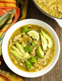 Paleo Chicken Chili Verde Recipe #ASpicyPerspective #whole30 #paleo #lowcarb