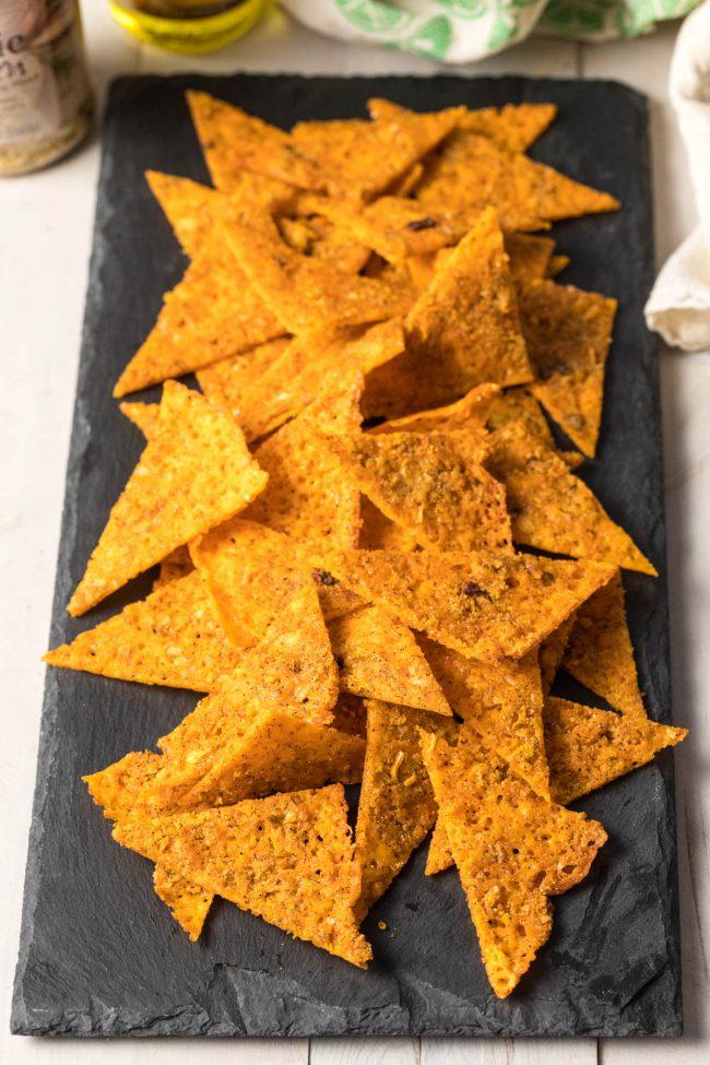 Cheesy Sheet Pan KETOGENIC Chicken Nachos Recipe #ASpicyPerspective #ketogenic #lowcarb