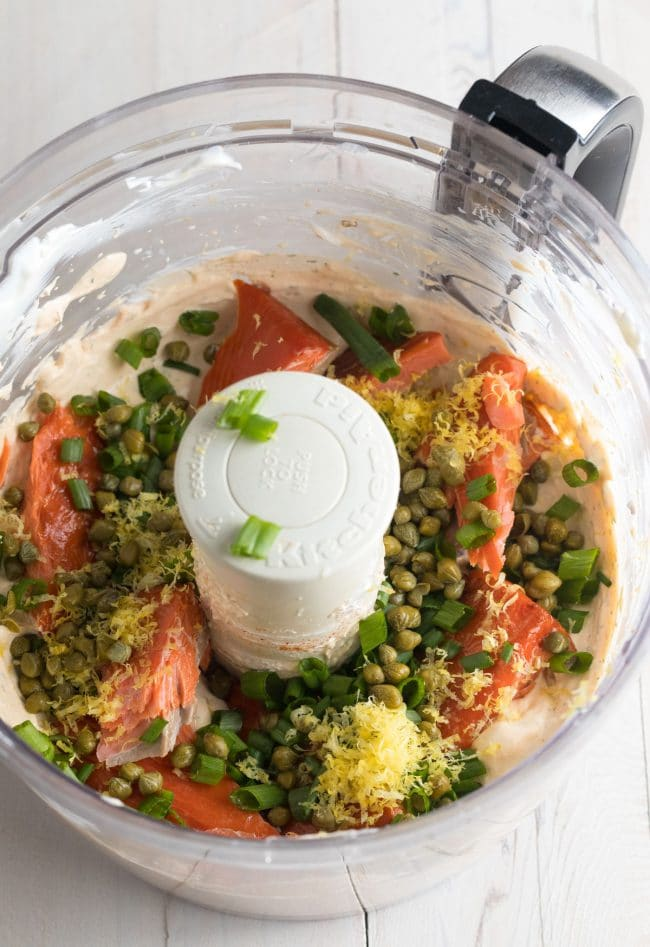 Easy Smoked Salmon Dip Recipe #ASpicyPerspective #lowcarb #keto