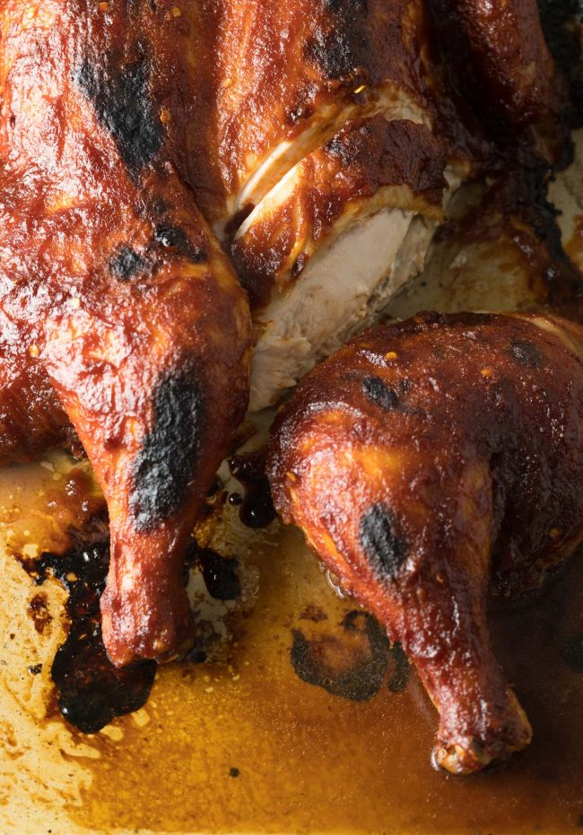 Tangy Coca-Cola Spatchcock Chicken Recipe #ASpicyPerspective #cokechicken #easter #roasted