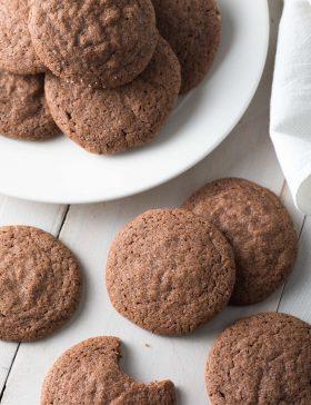 The Best Chocolate Sugar Cookies Recipe #ASpicyPerspective #cookies #chocolate #easter #spring #holiday