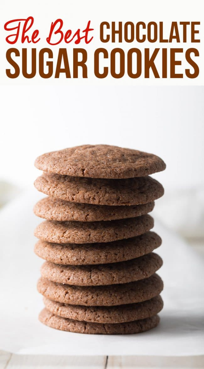 The Best Ever Chocolate Sugar Cookies Recipe #ASpicyPerspective #cookies #chocolate #easter #spring #holiday