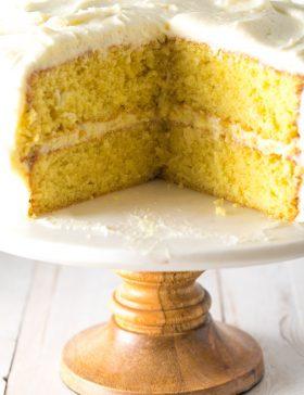Our Best Lemon Buttermilk Cake Recipe #ASpicyPerspective #lemon #cake #easter