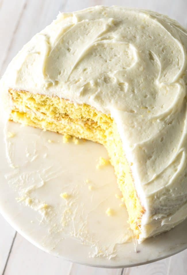 Perfect Best Lemon Buttermilk Cake Recipe #ASpicyPerspective #lemon #cake #easter