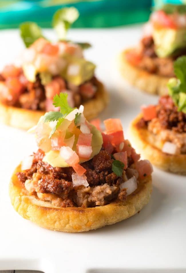 How To Make Mexican Sopes: This easy Authentic Sopes Recipe makes the most amazing Sopes ever! #mexican #cincodemayo #ASpicyPerspective