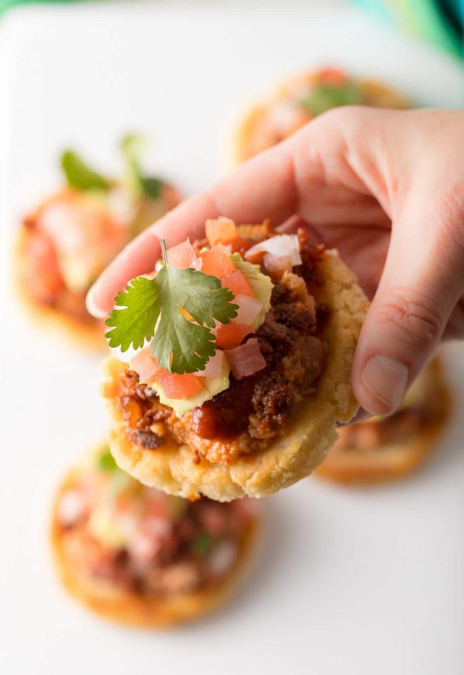 How To Make The Best Mexican Sopes: This easy Authentic Sopes Recipe makes the most amazing Sopes ever! #mexican #cincodemayo #ASpicyPerspective