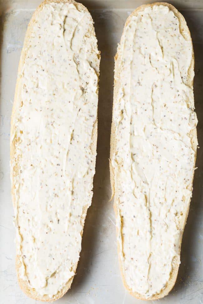 How To: Muffuletta Cheesy Garlic Bread Recipe #ASpicyPerspective #garlicbread #cheesebread #muffuletta #neworleans