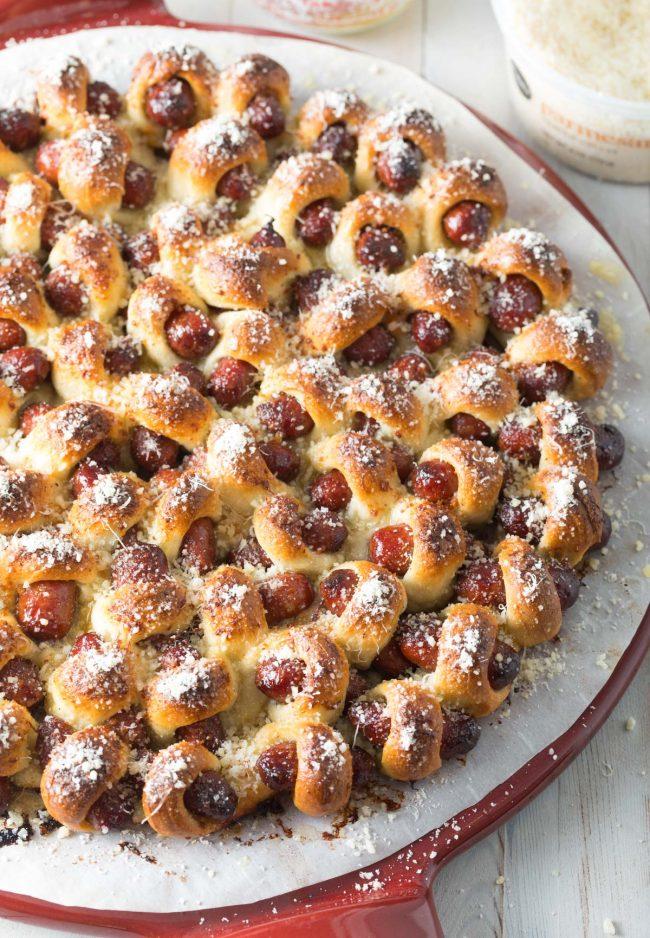 Best 5-Ingredient Sausage Roll Crazy Bread Recipe #ASpicyPerspective #bread #appetizer #snack