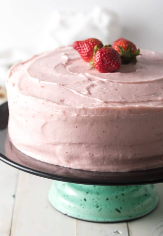 Best Strawberry Cake From Scratch Recipe #ASpicyPerspective #cake #strawberry #strawberries #easter #july4th