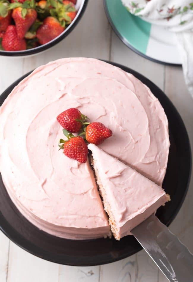 Easy Strawberry Cake From Scratch Recipe #ASpicyPerspective #cake #strawberry #strawberries #easter #july4th