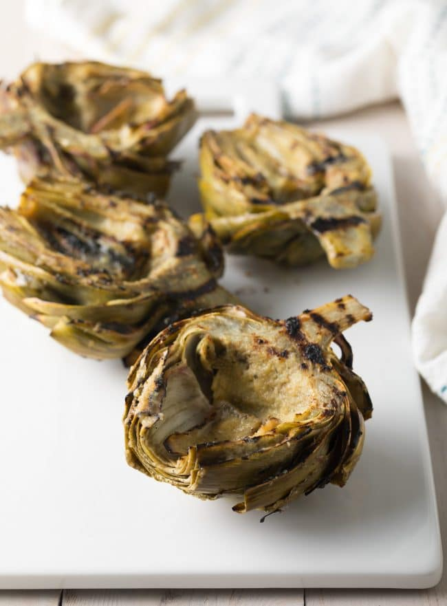 Healthy Grilled Artichokes with Miso Butter Recipe #ASpicyPerspective #lowcarb #howto #artichoke
