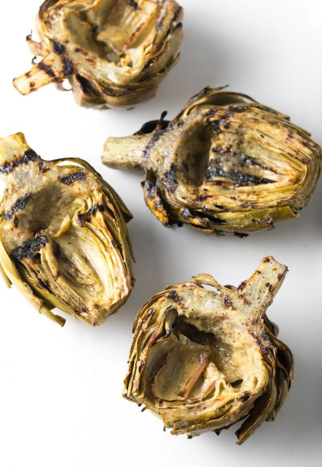Grilled Artichokes with Miso Butter Recipe #ASpicyPerspective #lowcarb #howto #artichoke