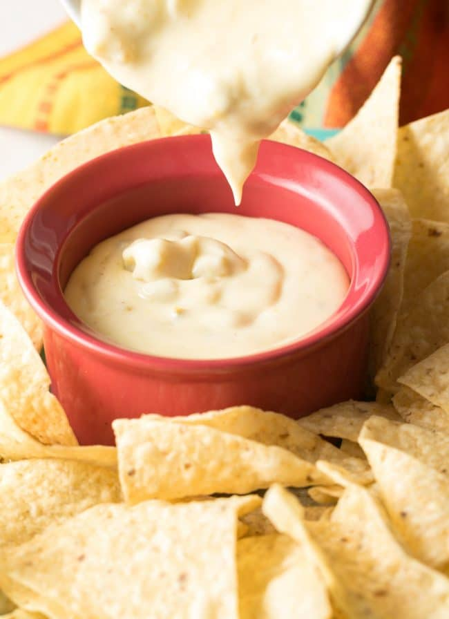 Totally Amazing Queso Blanco Dip Recipe #ASpicyPerspective #cheese #whitequeso