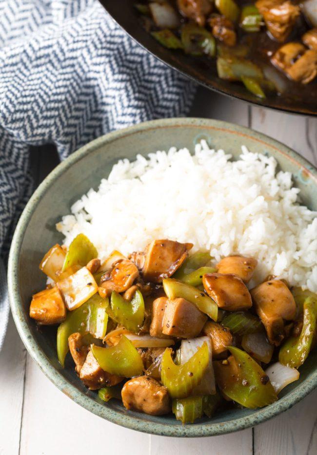 Best Healthy Black Pepper Chicken Recipe (Copycat Panda Express) #ASpicyPerspective #glutenfree #lowcarb #takeout #copycat
