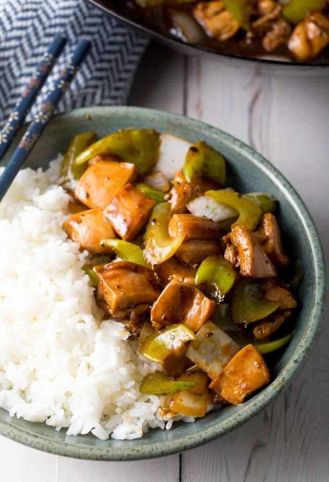 Healthy Black Pepper Chicken Recipe (Copycat Panda Express) #ASpicyPerspective #glutenfree #lowcarb #takeout #copycat
