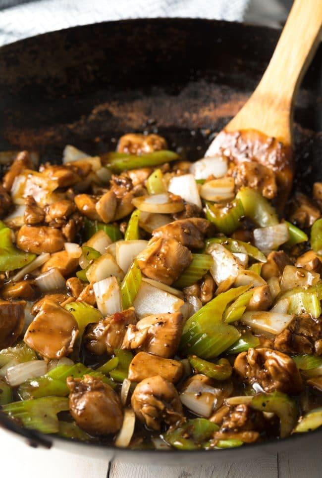 Best Black Pepper Chicken Recipe (Copycat Panda Express) #ASpicyPerspective #glutenfree #lowcarb #takeout #copycat