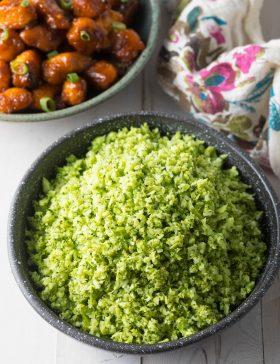 How To Make Healthy Broccoli Rice Recipe #ASpicyPerspective #lowcarb #keto #glutenfree #vegan #whole30 #paleo