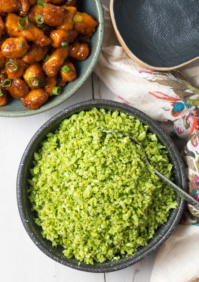 How To Make Easy Broccoli Rice Recipe #ASpicyPerspective #lowcarb #keto #glutenfree #vegan #whole30 #paleo