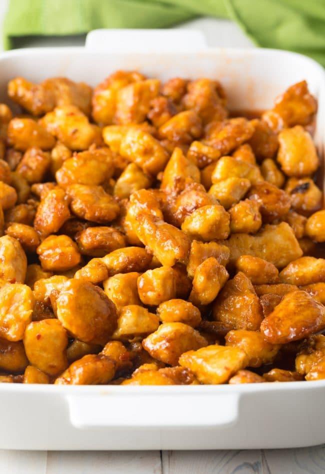 Amazing Paleo Firecracker Chicken Recipe #ASpicyPerspective #whole30 #paleo #stirfry #takeout