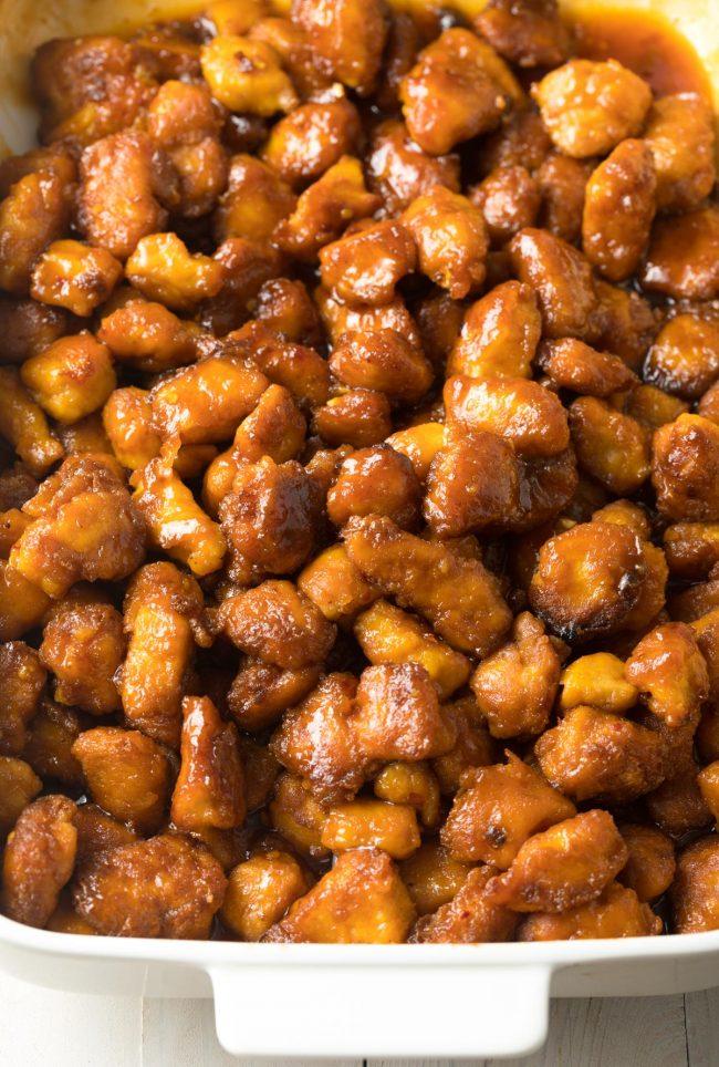 The BEST Paleo Firecracker Chicken Recipe #ASpicyPerspective #whole30 #paleo #stirfry #takeout