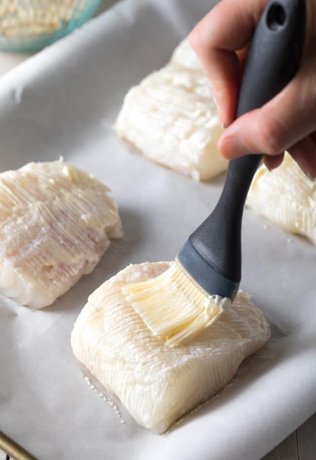 Making Baked White Fish with Everything Bagel Crust Recipe (Low Carb, Keto & Paleo) #ASpicyPerspective #lowcarb #keto #paleo #fish #lowfat