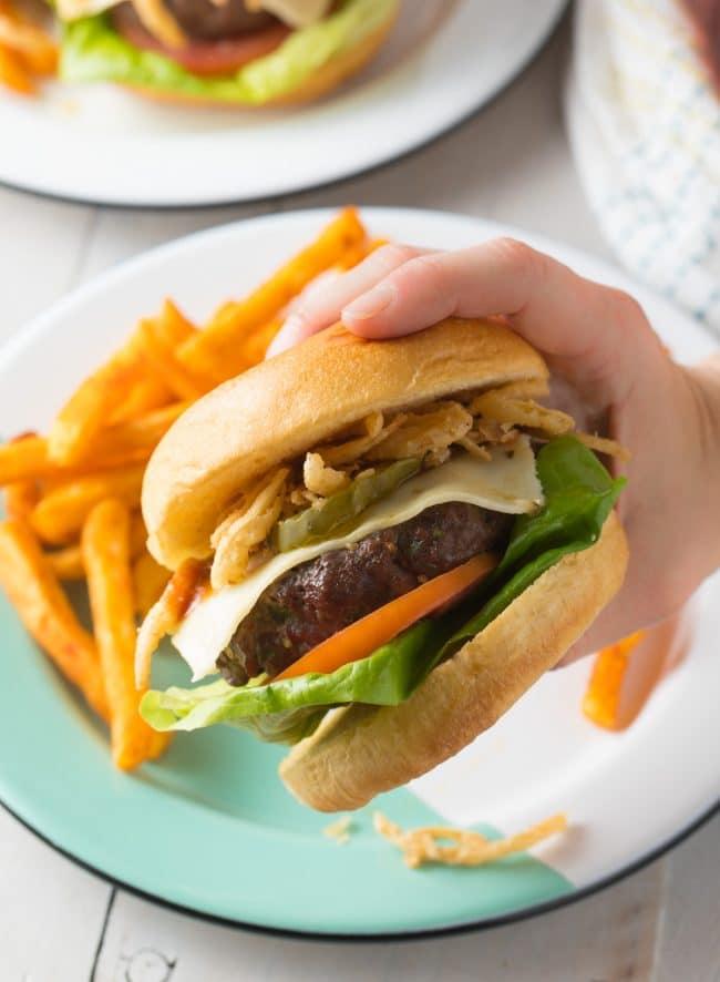 Perfect Cowboy Bacon Burgers Recipe #ASpicyPerspective #bacon #burgers #hamburgers #cowboy #bbq