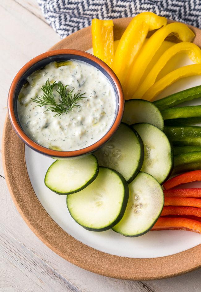 How To Make Tzatziki Sauce (Recipe) #Vegetarian #GlutenFree #LowCarb #Keto