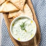 How To Make The Best Tzatziki Sauce (Recipe) #Vegetarian #GlutenFree #LowCarb #Keto