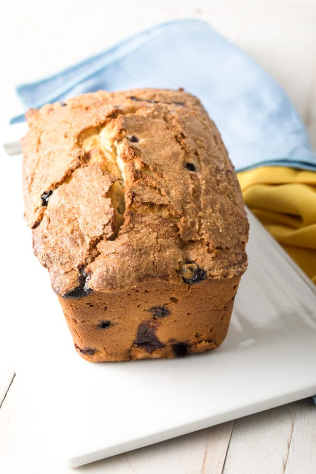 Fluffy Lemon Pound Cake Recipe #ASpicyPerspective #cake #blueberry #lemon #poundcake