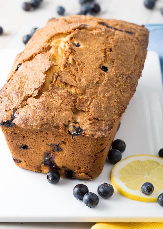 Blueberry Lemon Pound Cake Recipe #ASpicyPerspective #cake #blueberry #lemon #poundcake