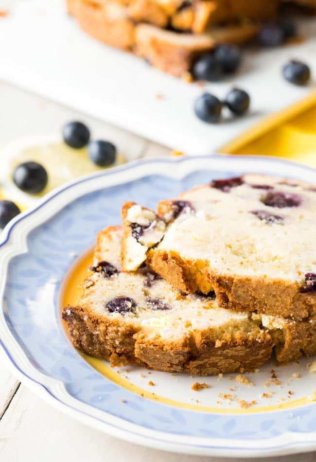 Cream Cheese Pound Cake Recipe #ASpicyPerspective #cake #blueberry #lemon #poundcake