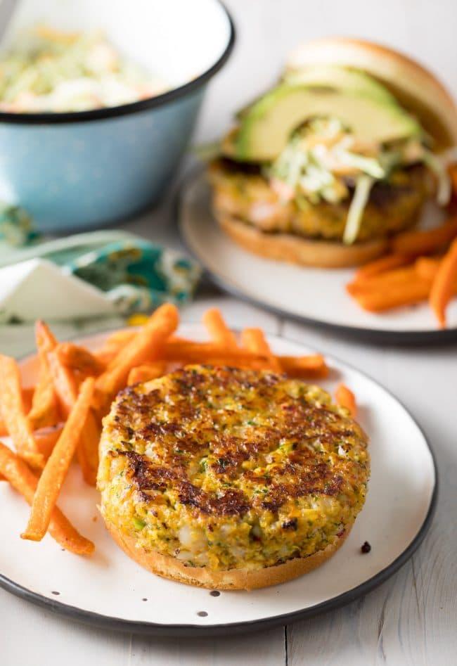 Caribbean Shrimp Burgers Recipe #ASpicyPerspective #summer #shrimp #hamburger #burger