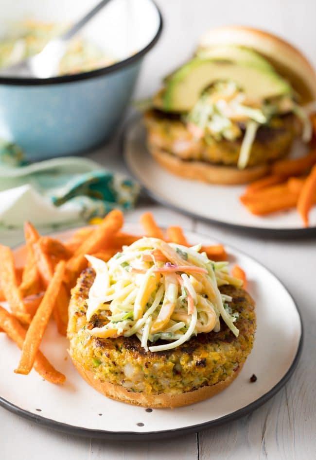Island Shrimp Burgers Recipe #ASpicyPerspective #summer #shrimp #hamburger #burger
