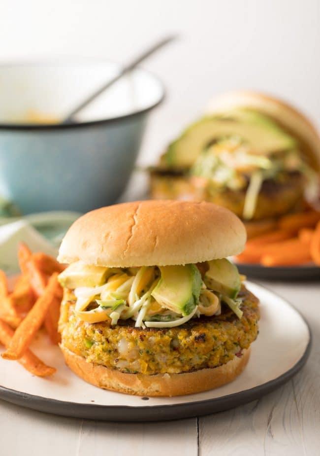 Juicy Caribbean Shrimp Burger Recipe #ASpicyPerspective #summer #shrimp #hamburger #burger