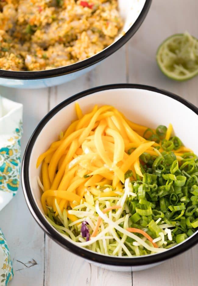 Mango Slaw Recipe #ASpicyPerspective #summer #shrimp #hamburger #burger