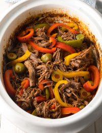 Slow Cooker Ropa Vieja (Cuban Beef Recipe) #ASpicyPerspective #paleo #keto #glutenfree #lowcarb #cuban #beef