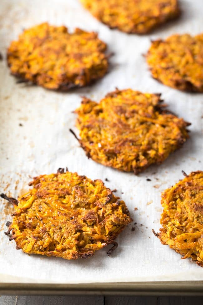 Easy Paleo Sweet Potato Hash Browns Recipe #ASpicyPerspective #paleo #whole30 #glutenfree
