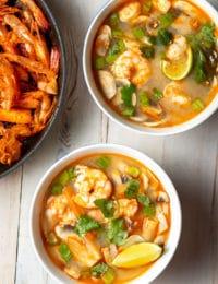Tom Yum Soup Recipe #ASpicyPerspective #thai #healthy #lowcarb #shrimp