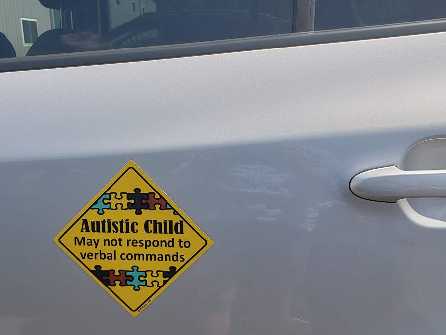 autism car safety magnet